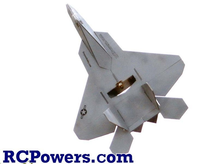 RC Powers Designed Laser Cut F22-V2 - Foam Only - The RCPowers Easybuild F-22 V2 is one of the best parkjets around. Its large wings give you a very low wing loading with a high degree of maneuverability through thrust vectoring.