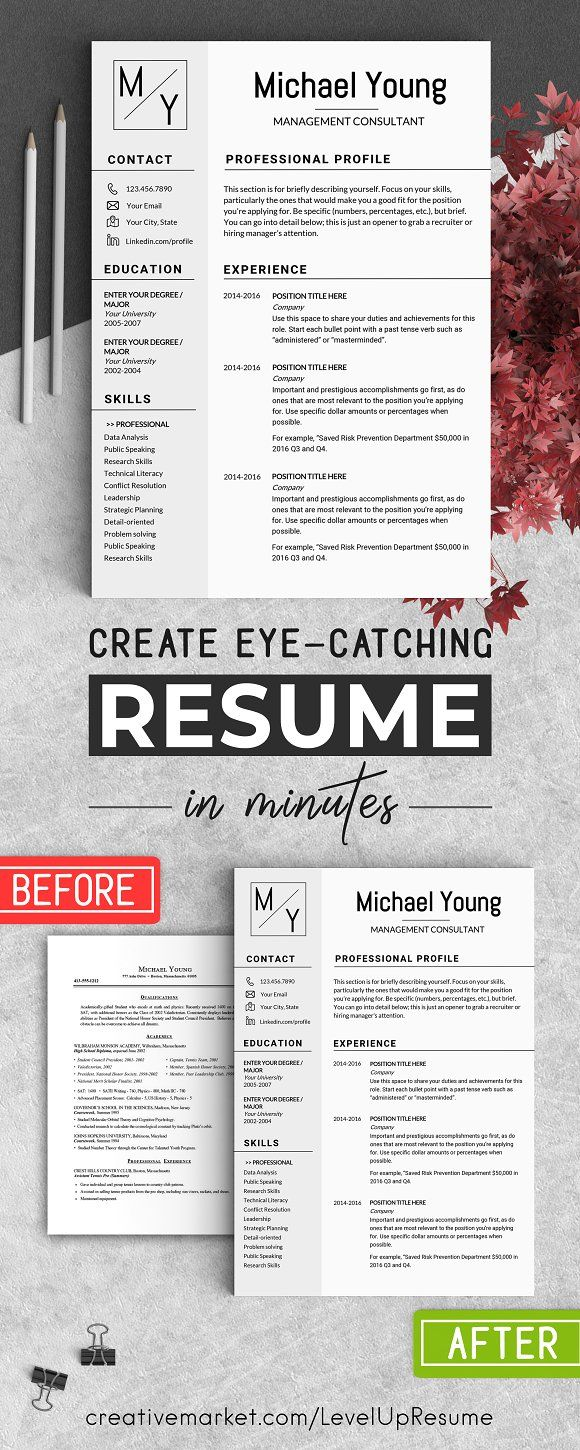 Professional Resume CV Template   @creativework247