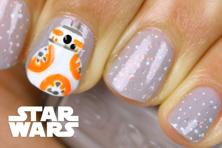 BB-8 Star Wars nailart