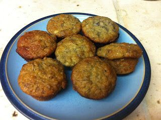 Does it look infected?: Low carb Banana Muffins