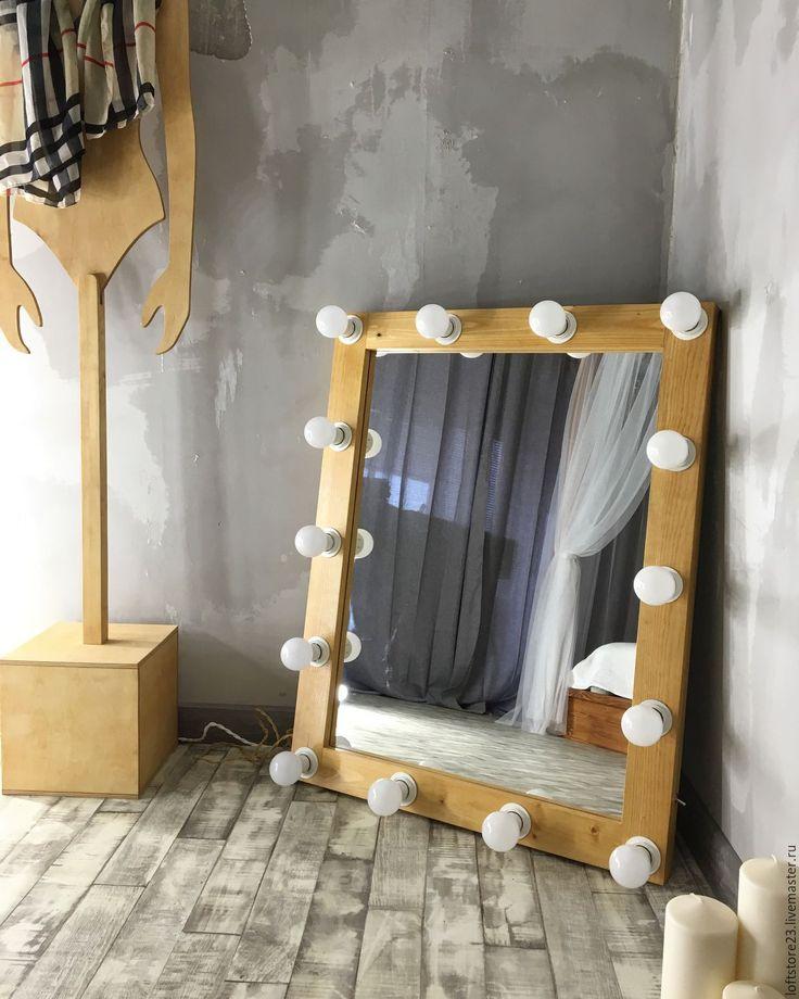 Купить Гримерное зеркало GOLDEN PECAN. - бежевый, зеркало, гримерное зеркало, зеркало с лампами