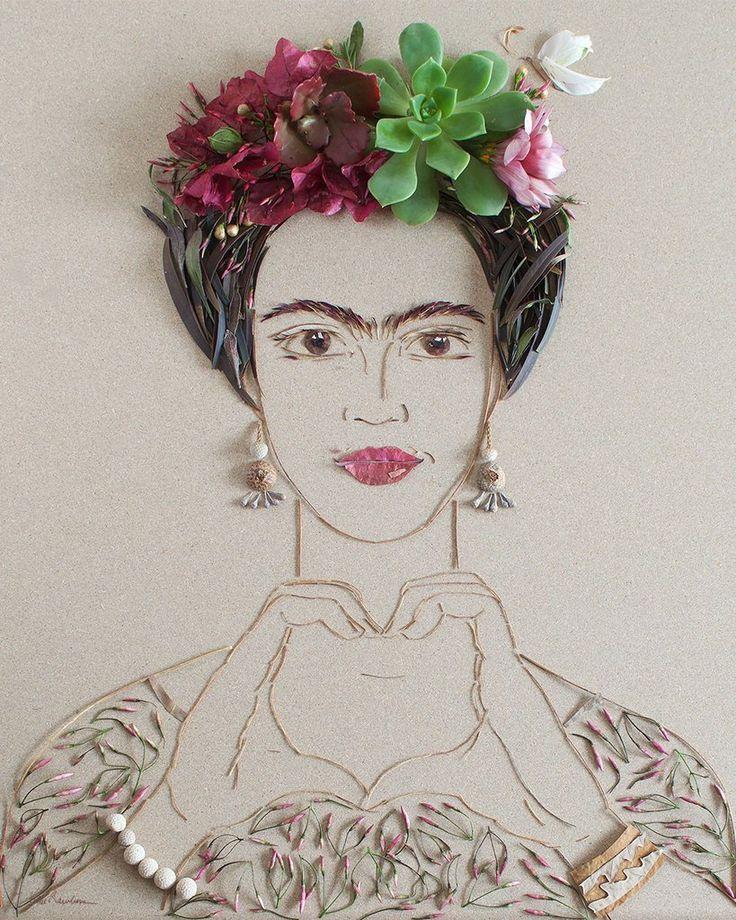 """Choose Love Frida"" Flower Face Print"