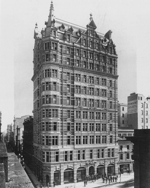 The wonderful Australian Building, cnr Elizabeth St and Flinders Lane, possibly the tallest in the world for a short time in 1889