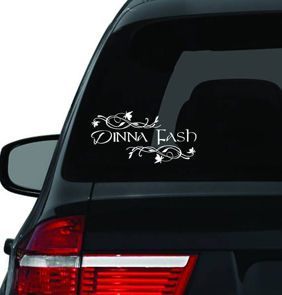 Window Car Decal Dinna Fash Dinna Fash Vinyl Decal Etsy Outlander Car Decals Custom Window Decals