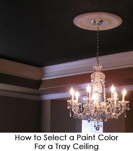 Tray Ceiling Paint: How To Select A Paint Color For A Tray Ceiling