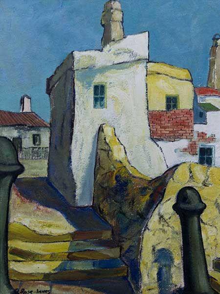 Alexander Rose-Innes (SA 1915 - 1996) Oil, Fishing Village