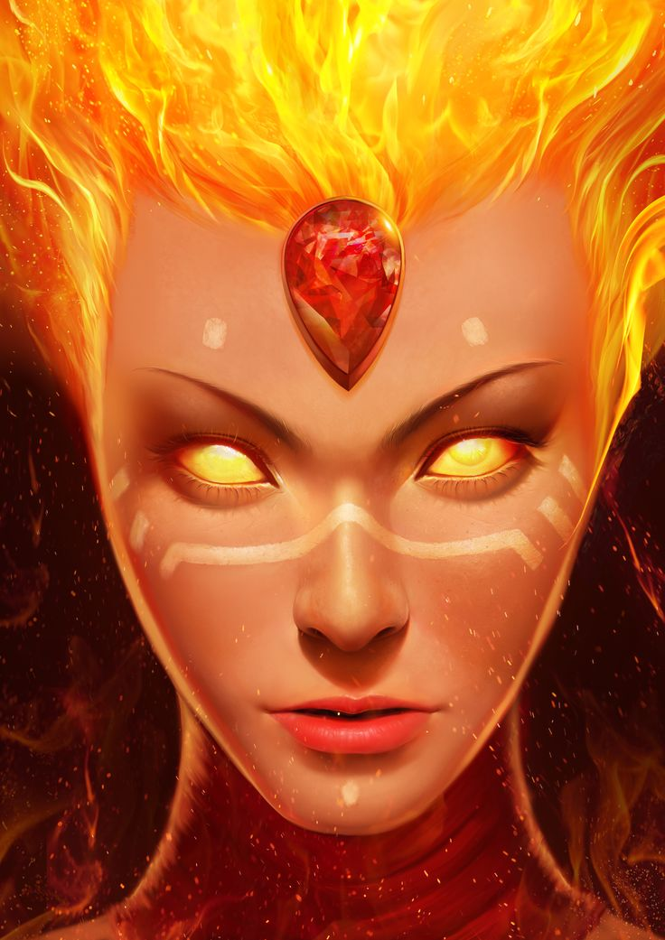 DOTA 2 LINA by ANG-angg female fire genasi  demon devil crystal gem ruby jewel flame armor clothes clothing fashion player character npc | Create your own roleplaying game material w/ RPG Bard: www.rpgbard.com | Writing inspiration for Dungeons and Dragons DND D&D Pathfinder PFRPG Warhammer 40k Star Wars Shadowrun Call of Cthulhu Lord of the Rings LoTR + d20 fantasy science fiction scifi horror design | Not Trusty Sword art: click artwork for source