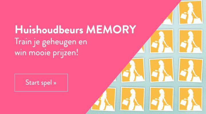 Speel het Huishoudbeurs memory spel en maak kans op mooie prijzen!