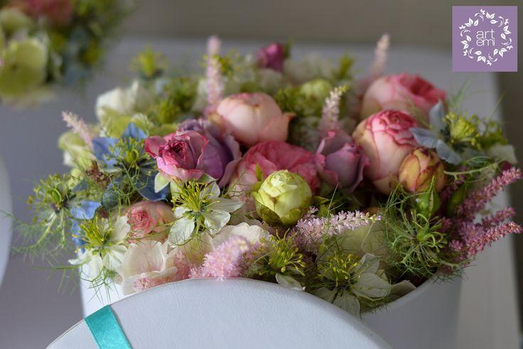 #artemi #florist #floralart #floraldesign #floralartist #weddings #weddingday #slub #wesele #dekoracje #decorations #weddingdecorations #weddinddecor #flowers #flowersdecor #weddingflowers #bride #groom #forbrideandgroom #pastels #mint #turquoise #pink #roses #flowebox #box #weddingdetails