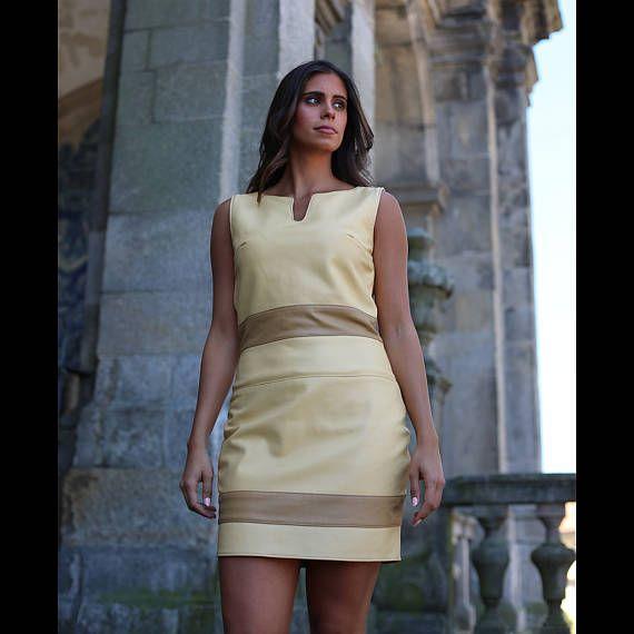 Scabbard Bombay #Leather #Dress #Vestido #Pele #handmade