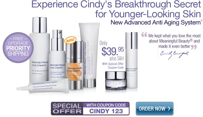 this is a definite try... Meaningful Beauty Cindy Crawford's Skin Care