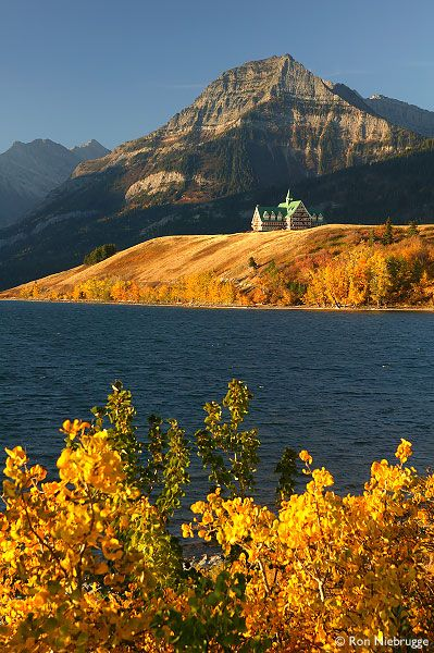 'Prince of Wales Hotel' on *Waterton Lake, Waterton Lakes National Park, Alberta, Canada*  |Photo by ~Ron Niebrugge~|