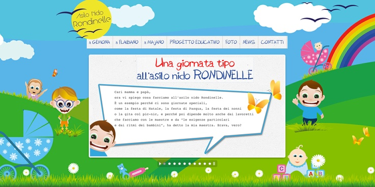 www.asilonidorondinelle.it | Nursery in Udine (Italy)  website by JollaWEB