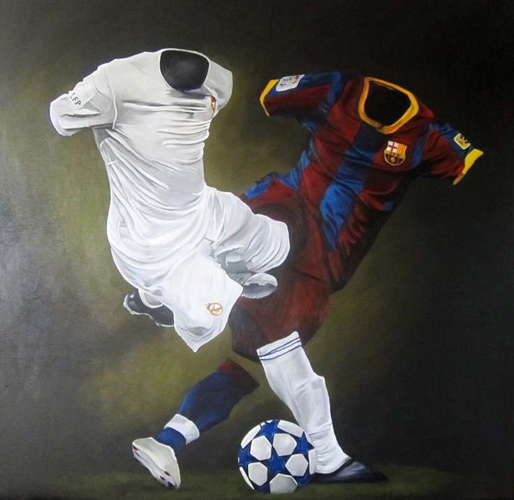 "El Clasico, 2011 | Acrylic on Wood Panel | 48"" x 48"""