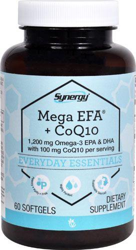 Vitacost Synergy Mega EFA® + CoQ10 - 1200 mg per serving Omega-3 EPA & DHA/100 mg per serving CoQ10