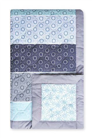 Buy Set Of 2 Teal Origami Pattern Square Pillowcases online today at Next…