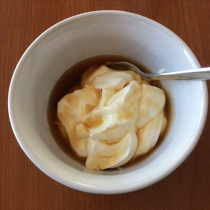 greek yogurt with maple syrup from Canada