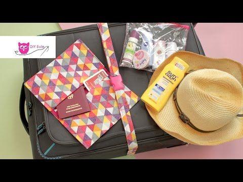 Reise-Set nähen: Kofferband, Flüssigkeitenbeutel & Reisepasshülle - DIY Eule - YouTube