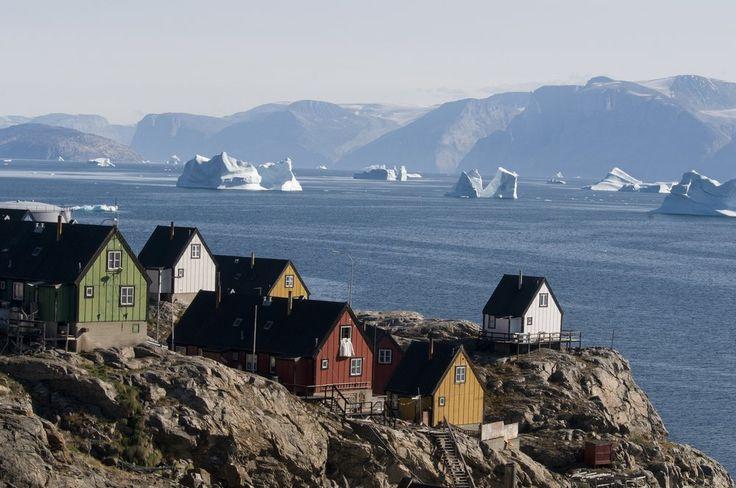 Baffin Bay in the small village of Uummannaq, Greenland.