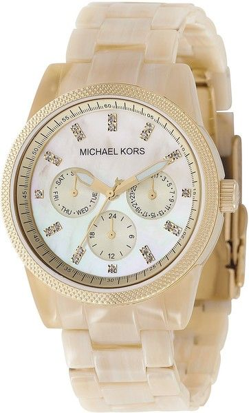micheal kors watch | Michael Kors Michael Womens Chronograph Bracelet Watch 38mm in White ...