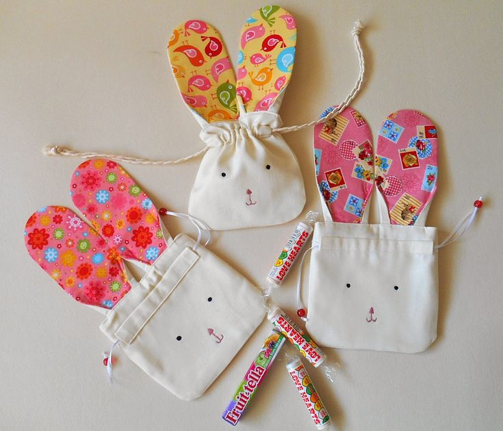 handmade by eva rose: Easter Bunny Silhouette Drawstring Pouch and Foxes