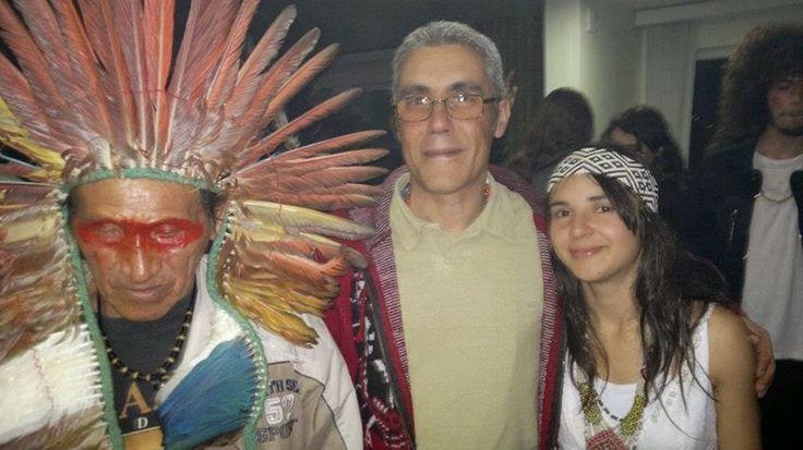 Pajé Shakü Benã e Camila