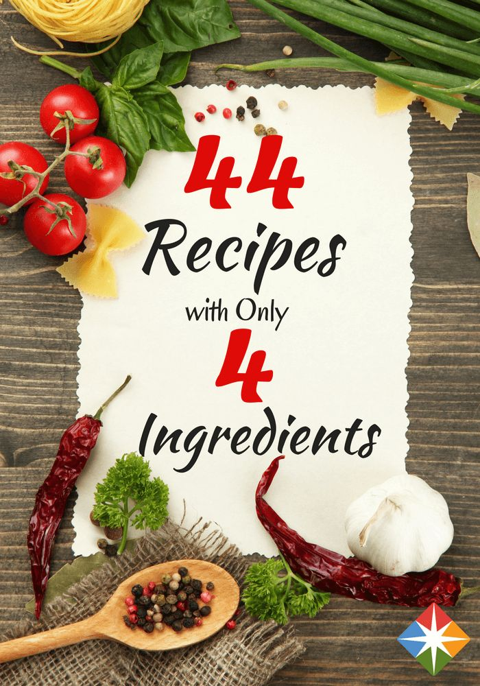 Before weeknight chaos renders the drive-thru dangerously appealing, allow us to introduce some of our favorite four-ingredient recipes. Don't let their simplicity fool you: These healthy dishes are low on hassle, but high on flavor. Bring on dinner!
