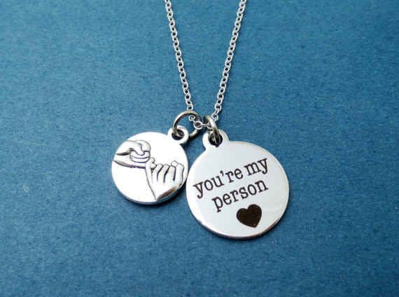 A pinky promise necklace.                                                                                                                                                                                 More