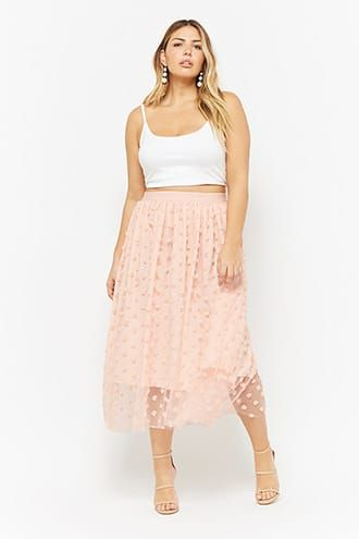 376bcebe72 Plus Size Floral Sheer Mesh Tulle Skirt | Products | Skirts, Bbq ...