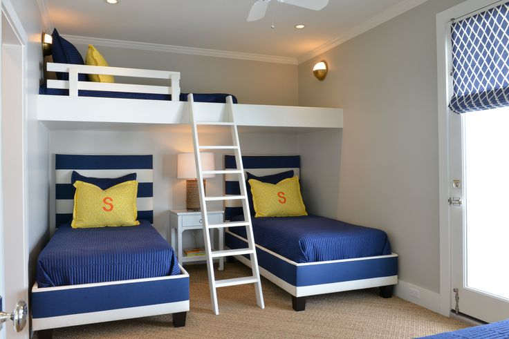 Munger Interiors Coastal Project Bunk Room                                                                                                                                                                                 More