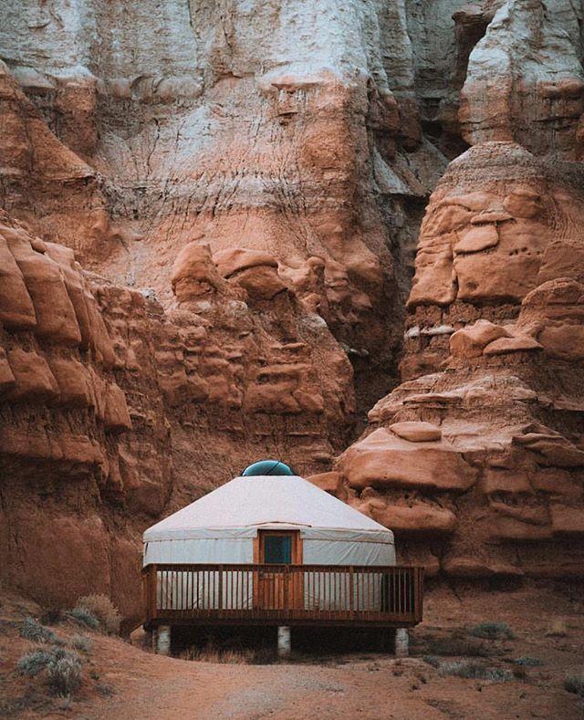 Goblin Valley State Park! The most unique camping in all of Utah! PC: @sashajuliard . . . . . . . . . . . #utah #utahgram #goblinvalley #yurt #wowutah #beautahful #mountain #nature #adventure #outdoors #trail #landscape #hike #travel #nationalpark #neverstopexploring #vsco #vscocam #bpmag #weareutah #utahisrad #utahdotcom #ventureout #travelstoke #pictureline #wanderlust #optoutside #utahunique