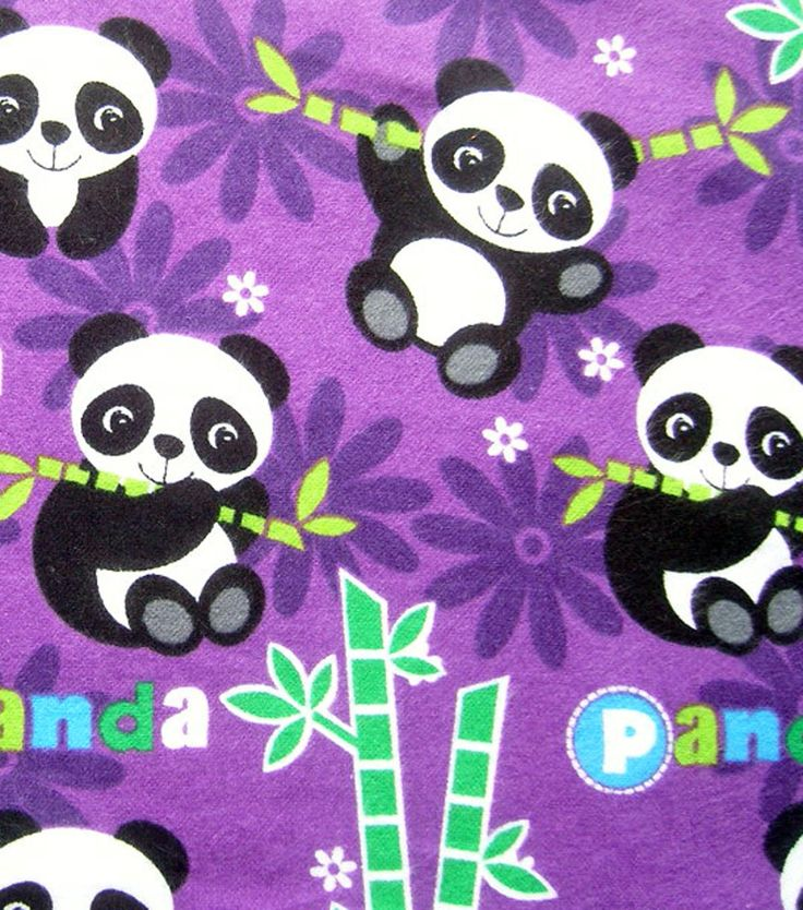 Pin By Storytelling On Happy Fabric: Snuggle Flannel Fabric Happy Panda At Joann.com