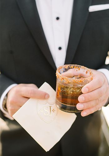 The bacon maple Manhattan from the PPHG team | Holiday cocktail ideas for your winter soiree | Photo by Aaron and Jillian