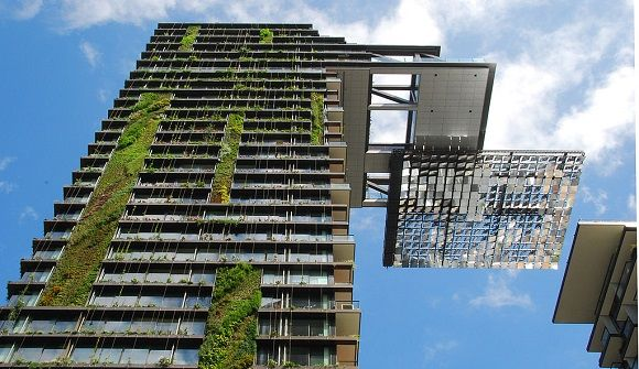 Forget about the energy recycle, how the building itself can be sustainable? What I think there are two ways to make the building's program flexible or the building has a green roof. the picture is a very good example of the green space. And this hanging garden can remote control. dripper irrigation system and has a special mesh covered felt.