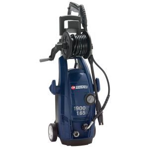 """Best Power or Pressure Washer no. 5. Campbell Hausfeld PW183501AV Electric Pressure Washer, 1900 psi. No top five list would be complete without a """"bang for the buck"""" entry, and the Campbell Hausfeld fits that bill perfectly. This quiet electric unit only weighs 27 pounds so it's a snap to move around, particularly with its big wheels."""