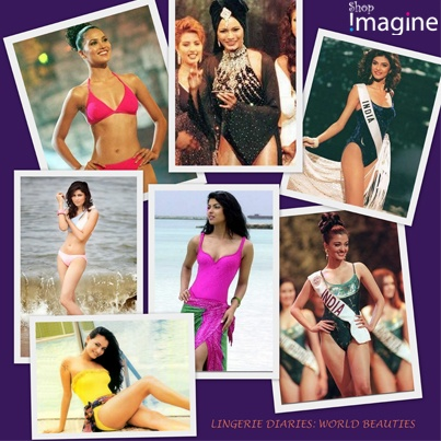 Lingerie Diaries: World Beauties  These Femme Fatale's took the world by a storm flaunting their curves in a swimsuit!