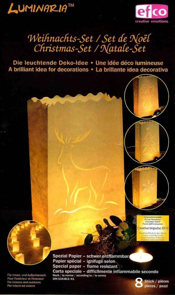 *Luminaria Dejo Lichttüten*Weihnachts-Set*8 Stück*groß*