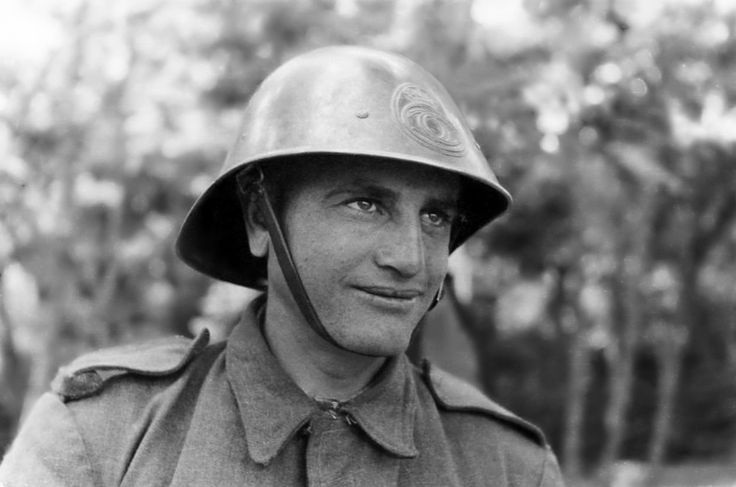Portrait of a Romanian soldier of the Romanian Fourth Army during the Siege of Odessa. The Siege of Odessa was part of the Eastern Front are...