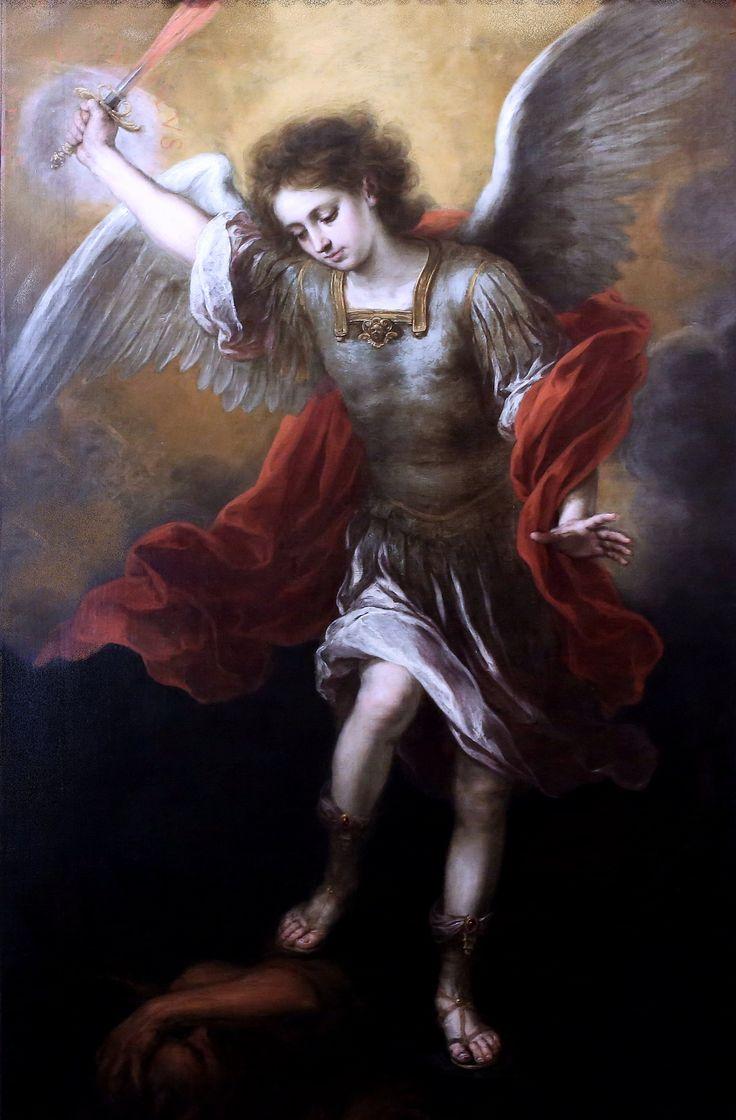 Bartolome Esteban Murillo. 1617 1682. Séville. Saint Michel . Vienne. Kunsthistorisches Museum  I love the colors Murillo used