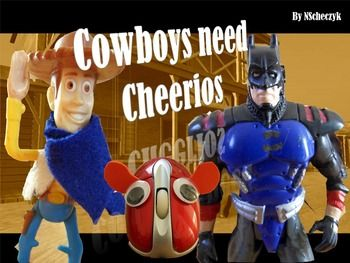 """You want students to create a stunning photo essay using learned principles of Shots and Angles but need a breathtaking example to show your class to expect great results? No time to do your own? This PowerPoint gives you a great example of a photo essay I created using  various Shots and Angles """"Cowboys Need Cheerios"""".Teaching idea: Step students through my photo essay example and discuss as a class the Shots and Angles that are used in my photos as well as the flow of the story etc.The…"""