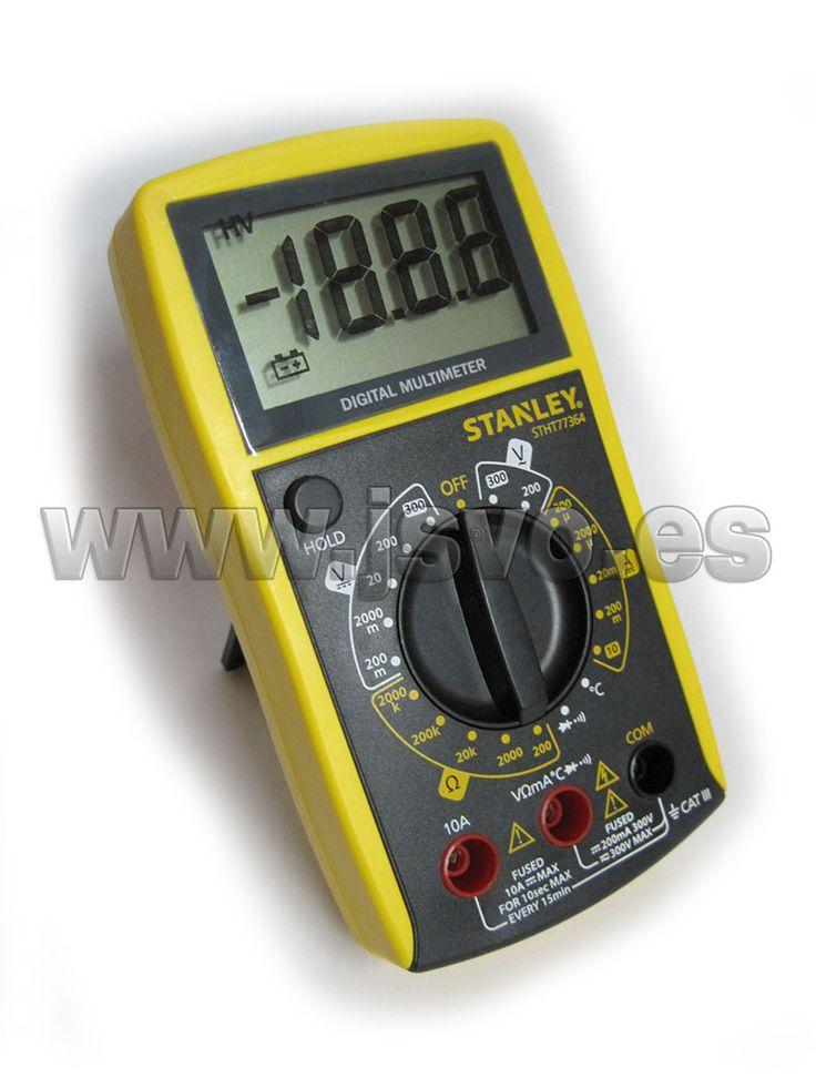 Multímetro digital Stanley STHT0-77364 con pantalla LCD ...