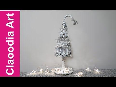 Ażurowa choinka z papierowej wikliny (Christmas tree, paper wicker) - YouTube