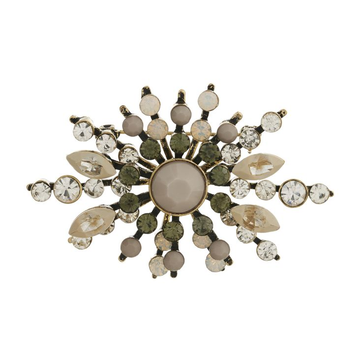 Lovett and Co - Diamante 50's White Opal Pearl Brooch RRP £28  Stand Number QS41