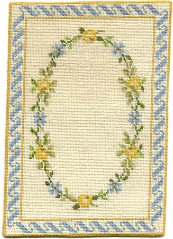 blue lucinda rug by peppermint designs