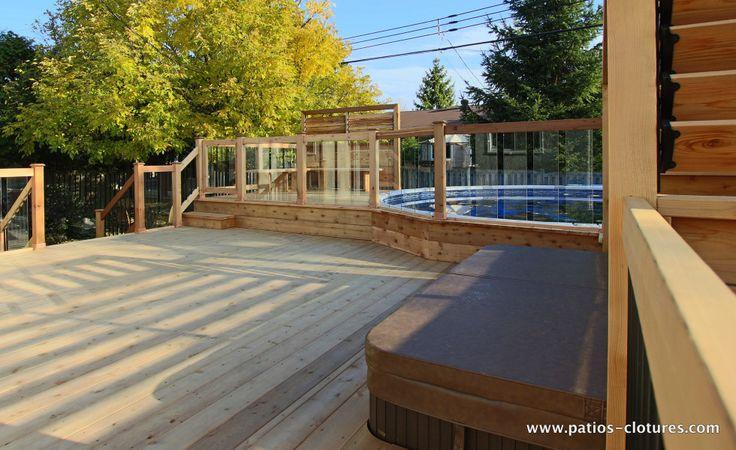 rampe de verre trempé pour patio de piscine hors terre Brunelle 2
