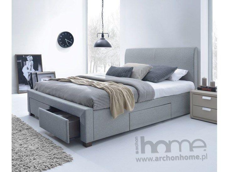 Nowoczesne, fukncjonalne łóżko z trzema szufladami. Łóżko wykończone w stylowym materiale w odcieniu popielu. Produkt do złożenia, zawiera stelaż, nie zawiera materaca. Uniwersalny wygląd sprawia, że  ...