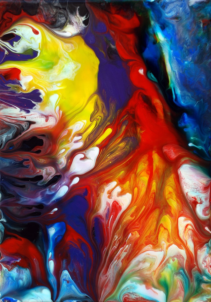 89 best colors delirium images on pinterest modern art for How to make fluid acrylic paint