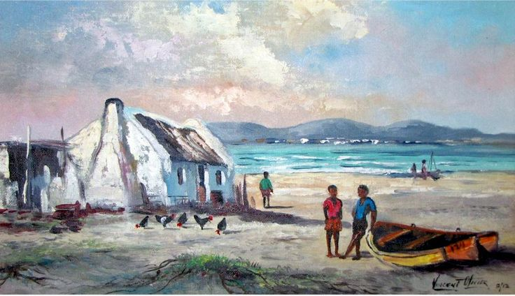 Oils - Arniston 2 - Another fine oil painting by Vincent Olivier was listed for R2,950.00 on 8 Feb at 09:16 by webdaz in Port Elizabeth (ID:130501678)