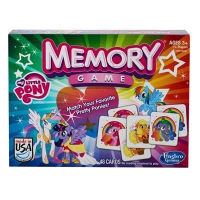 Hasbro, Jeu de mémoire Little pony, 3+ ans. 17.99  Disponible en boutique ou sur notre catalogue en ligne. Livraison rapide au Québec.  Achetez-le info@laboiteasurprisesdenicolas.ca