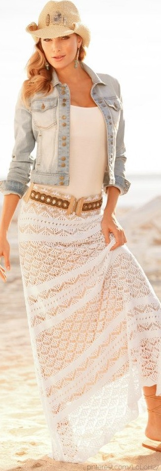 Im going to recreate this with a white gypsy skirt... hello summer outfit!